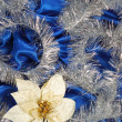 Blue sateen decoration — Stock Photo