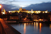 Prague at night — Stock Photo