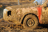 Muddy car — Stock Photo