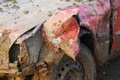 Coche fangosa — Foto de Stock