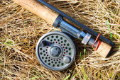 Fly fishing rod — Stock Photo