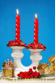 Red candle — Foto de Stock