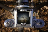 Sonoran desert in viewfinder — Stock Photo