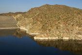 Dam at Alamo Lake State Park — Stock Photo