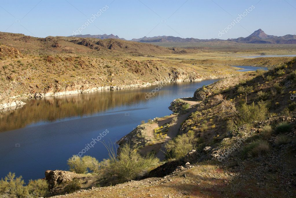 View at Alamo Lake State Park in Arizona. U.S.A. — Stock Photo #2367093