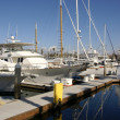 Yachts at Redondo beach - Stock Photo