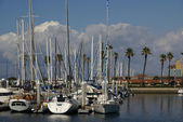 Yachts at Redondo beach — Stock Photo