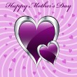 Stock Vector: Mothers day purple hearts