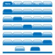 Royalty-Free Stock Vector Image: Web buttons navigation bars set