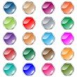 Round web buttons set in assorted colors — Stock Vector #2225871