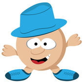 Guy with Hat Cartoon Character — Stock Vector