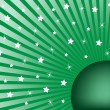 Abstract Background Green White Stars — Stock Vector #2551965