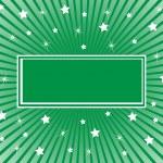 抽象的な背景緑白い星 — ストックベクタ
