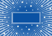 Abstract Background Blue White Stars — Stock Vector