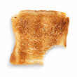 Slice of toasted bread - Stock Photo
