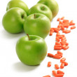 Royalty-Free Stock Photo: Green apple and vitamin pills