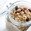 Muesli in glass jar — Stock Photo