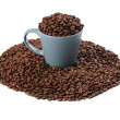 Coffee beans and coffee cup — Stock Photo #2228395