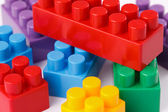 Plastic toy blocks — Foto Stock