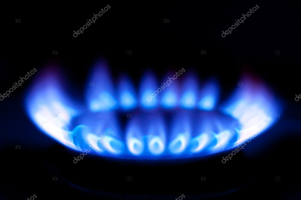 Photo shot of flames of gas stove  Stock Photo #2222992