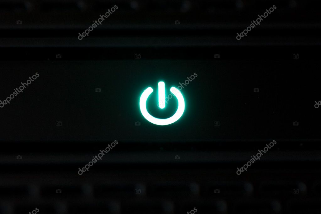 Photo shot of shinig power button — Stock Photo #2223120