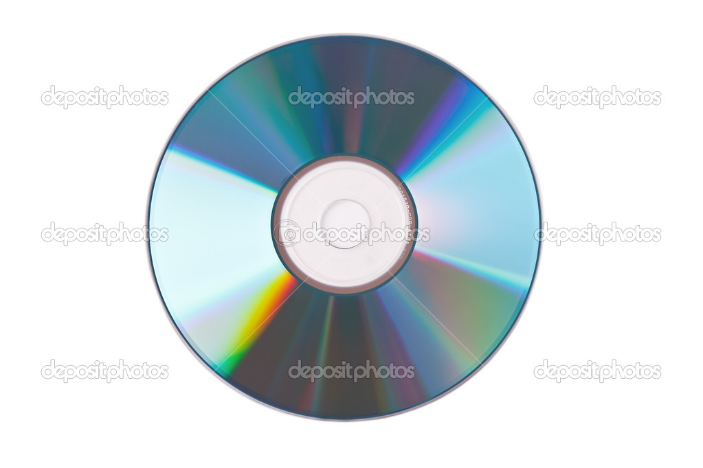 The compact disc on white background — Stock Photo #2228058