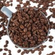 Coffee beans and coffee cup — Stock Photo #2263713