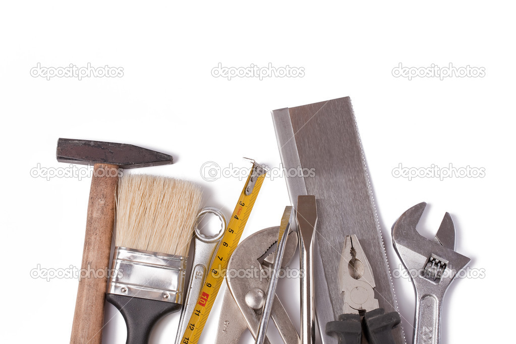 Set of tools on white background  Photo #2265498