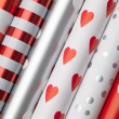 Stock Photo: Rolls of wrapping paper