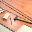 Wood flooring and tools - Lizenzfreies Foto