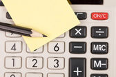Calculator,pencil and blank notepaper — Stock Photo
