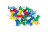 Various colored pushpins — Stock Photo