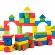 Royalty-Free Stock Photo: Colorful toy train and toy blocks