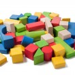 Royalty-Free Stock Photo: Colorful wooden toy blocks