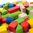 colorful wooden toy blocks — Stock Photo