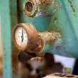 Old pressure barometer - Stock Photo