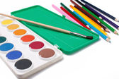 Water-color,paintbrush and color pencils — Foto Stock