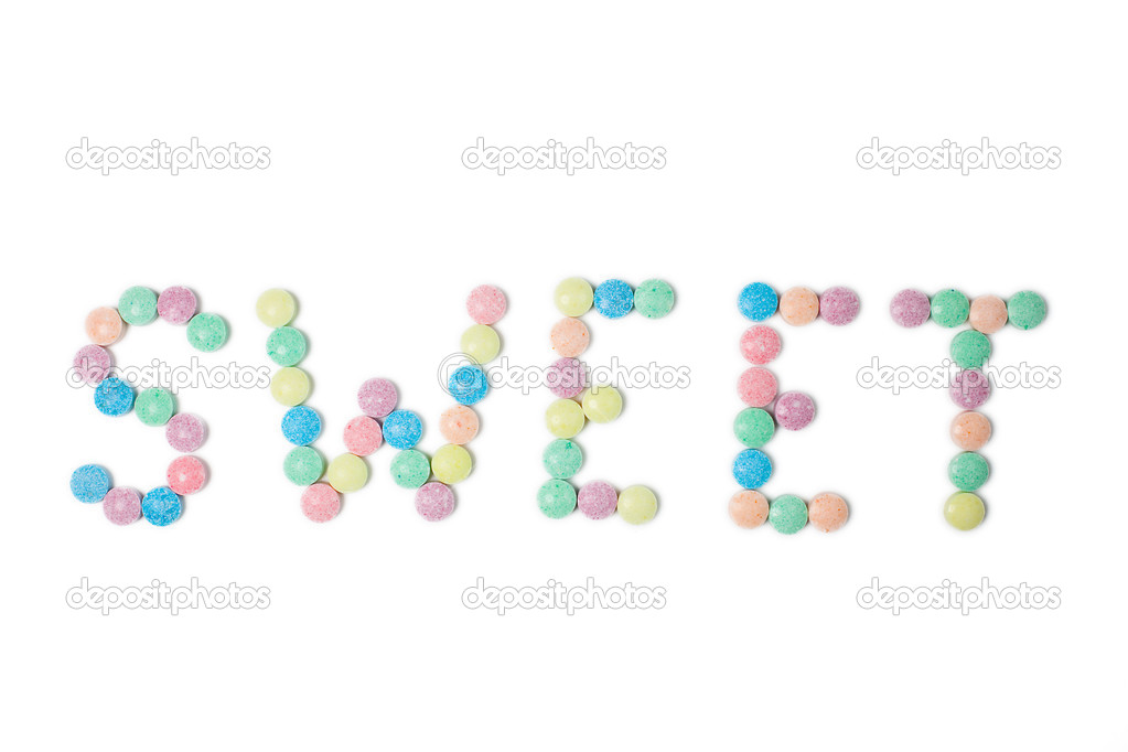 Colorful candies on white background  Stock Photo #2281334