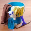 Stock Photo: Cleaning products