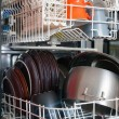 Open dishwasher — Stockfoto