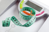 Scale and measuring tape — Stock Photo