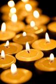 Tè candele accese — Foto Stock