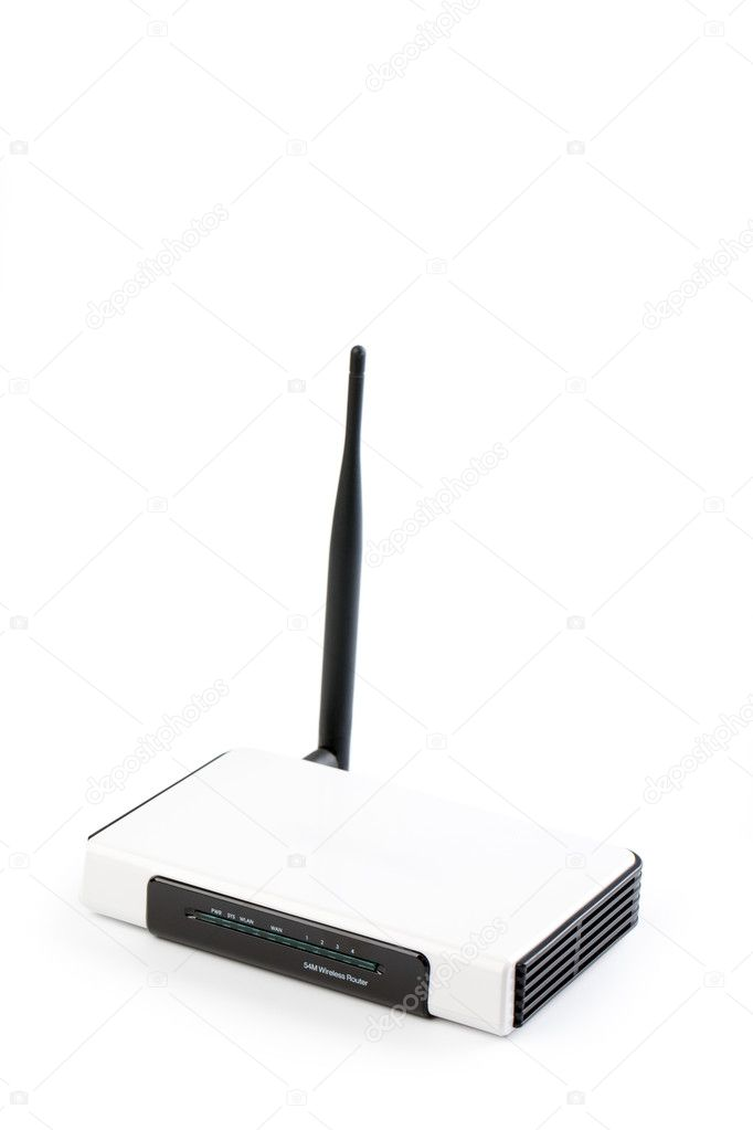 Wireless router on white background — Stock Photo #2521140