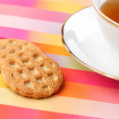 Tea and cookie — Stock Photo