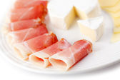 Prosciutto crudo ham — Stock Photo