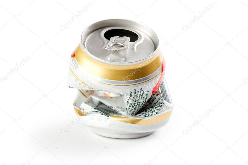 Crushed beer can — Stock Photo © jirkaejc #2578218  Crushed Beer Can