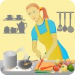 Stock Vector: Housewife