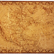 Ancient USA map - Stock Photo
