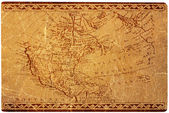 Ancient USA map — Stock Photo