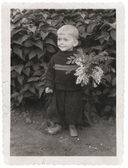 Boy in garden — Stock Photo
